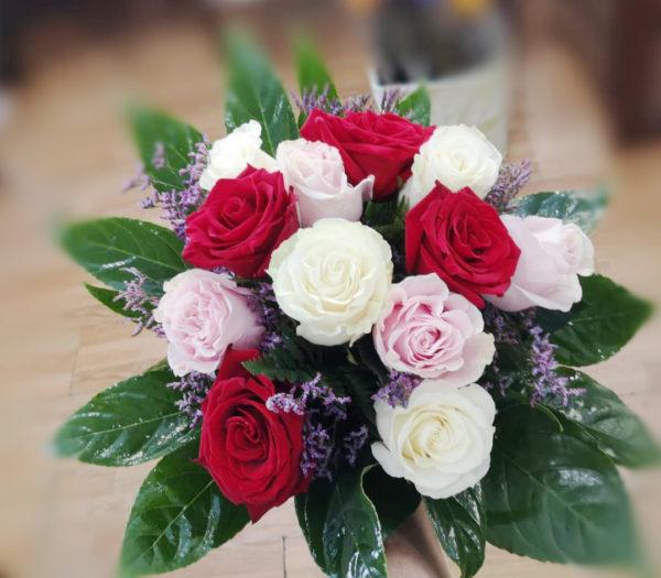Bouquet rosas color variado