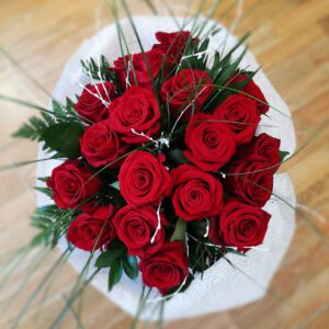 Ramo de rosas rojas 18 unidades
